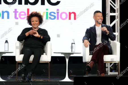 """Wanda Sykes, Executive Producer, and Wilson Cruz, Executive Producer, from """"Visible: Out on Television"""" speak at the Apple TV+ 2020 Winter TCA at The Langham Huntington Pasadena."""