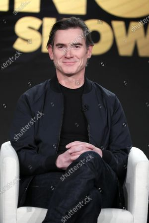 """Billy Crudup from """"The Morning Show"""" speaks at the Apple TV+ 2020 Winter TCA at The Langham Huntington Pasadena."""