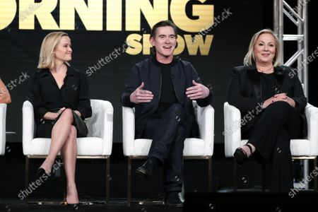 """Billy Crudup and Mimi Leder, Executive Producer, from """"The Morning Show"""" speak at the Apple TV+ 2020 Winter TCA at The Langham Huntington Pasadena."""