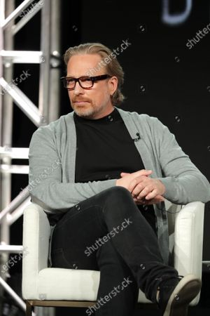 "Morten Tyldum, Director/Executive Producer, from ""Defending Jacob"" speaks at the Apple TV+ 2020 Winter TCA at The Langham Huntington Pasadena."