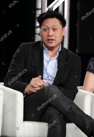 "Jon M. Chu, Director/Executive Producer, from ""Home Before Dark"" speaks at the Apple TV+ 2020 Winter TCA at The Langham Huntington Pasadena."