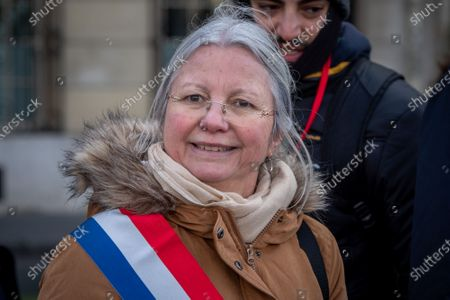 Agnes Thill during the national rally, organized by 'La Manif Pour Tous' and 10 other associations, against the bioethics bill and medically assisted procreation for same sex couples and single females.