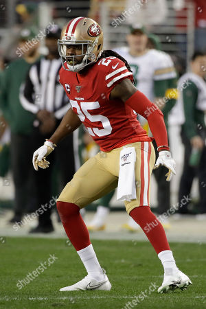San Francisco 49ers cornerback Richard Sherman plays against the Green Bay Packers during the first half of the NFL NFC Championship football game, in Santa Clara, Calif