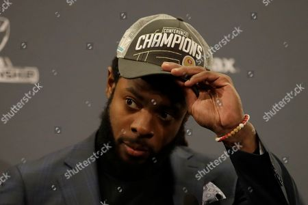 San Francisco 49ers cornerback Richard Sherman speaks at a news conference after the NFL NFC Championship football game against the Green Bay Packers, in Santa Clara, Calif. The 49ers won 37-20 to advance to Super Bowl 54 against the Kansas City Chiefs