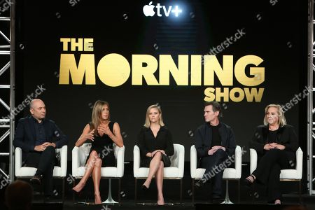 Stock Picture of Michael Ellenberg, Jennifer Aniston, Reese Witherspoon, Billy Crude and Mimi Leder
