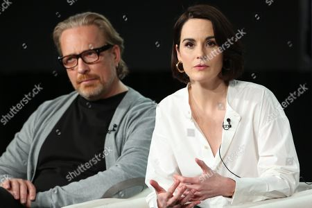 Stock Picture of Morten Tyldum and Michelle Dockery