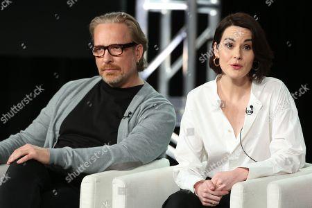Morten Tyldum and Michelle Dockery