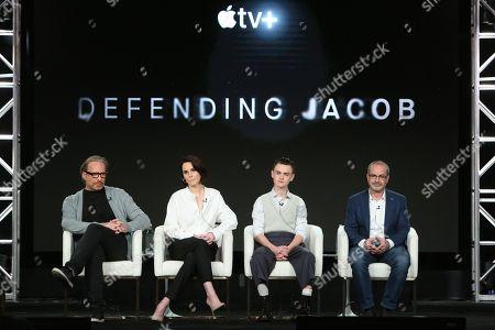 Morten Tyldum, Michelle Dockery, Jaeden Lieberher and Mark Bomback