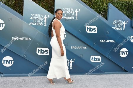 Nischelle Turner arrives at the 26th annual Screen Actors Guild Awards at the Shrine Auditorium & Expo Hall, in Los Angeles