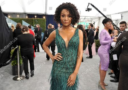 Zuri Hall arrives at the 26th annual Screen Actors Guild Awards at the Shrine Auditorium & Expo Hall, in Los Angeles