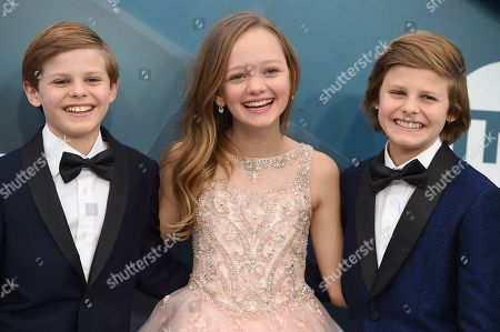 Cameron Crovetti, Ivy George, Nicholas Crovetti. Cameron Crovetti, from left, Ivy George, and Nicholas Crovetti arrive at the 26th annual Screen Actors Guild Awards at the Shrine Auditorium & Expo Hall, in Los Angeles