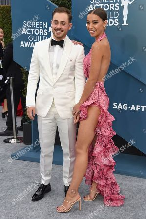 Dacre Montgomery, Olivia Pollock. Dacre Montgomery, left, and Olivia Pollock arrive at the 26th annual Screen Actors Guild Awards at the Shrine Auditorium & Expo Hall, in Los Angeles