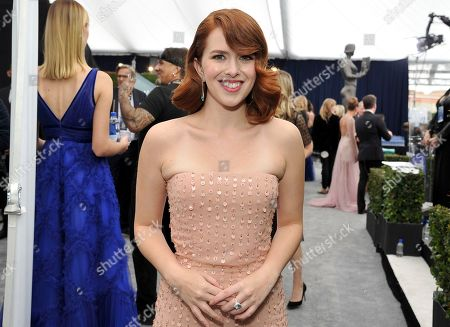 Elizabeth McLaughlin arrives at the 26th annual Screen Actors Guild Awards at the Shrine Auditorium & Expo Hall, in Los Angeles