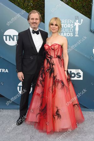 Peter Thum, Cara Buono. Peter Thum, left, and Cara Buono arrive at the 26th annual Screen Actors Guild Awards at the Shrine Auditorium & Expo Hall, in Los Angeles