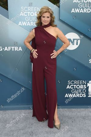 Nancy Travis arrives at the 26th annual Screen Actors Guild Awards at the Shrine Auditorium & Expo Hall, in Los Angeles