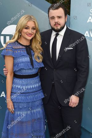 Rebecca April May, John Bradley. Rebecca April May, left, and John Bradley arrive at the 26th annual Screen Actors Guild Awards at the Shrine Auditorium & Expo Hall, in Los Angeles