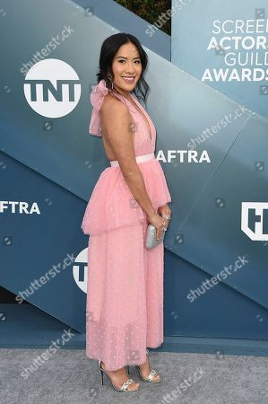 Melissa Tang arrives at the 26th annual Screen Actors Guild Awards at the Shrine Auditorium & Expo Hall, in Los Angeles