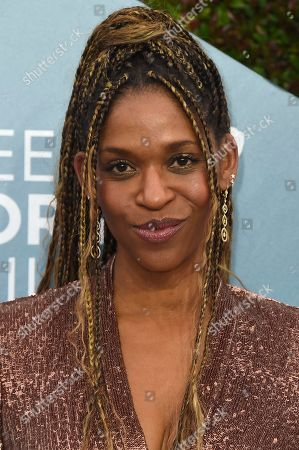 Stock Image of Merrin Dungey arrives at the 26th annual Screen Actors Guild Awards at the Shrine Auditorium & Expo Hall, in Los Angeles