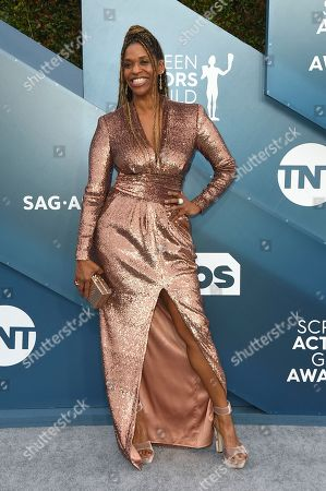 Merrin Dungey arrives at the 26th annual Screen Actors Guild Awards at the Shrine Auditorium & Expo Hall, in Los Angeles