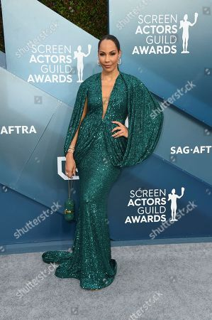 Stock Picture of Amanda Brugel arrives at the 26th annual Screen Actors Guild Awards at the Shrine Auditorium & Expo Hall, in Los Angeles