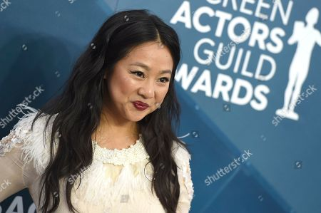 Stephanie Hsu arrives at the 26th annual Screen Actors Guild Awards at the Shrine Auditorium & Expo Hall, in Los Angeles