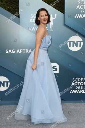 Kristen Gutoskie arrives at the 26th annual Screen Actors Guild Awards at the Shrine Auditorium & Expo Hall, in Los Angeles