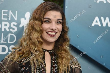 Annie Murphy arrives at the 26th annual Screen Actors Guild Awards at the Shrine Auditorium & Expo Hall, in Los Angeles