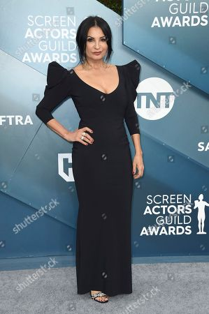 Kathrine Narducci arrives at the 26th annual Screen Actors Guild Awards at the Shrine Auditorium & Expo Hall, in Los Angeles