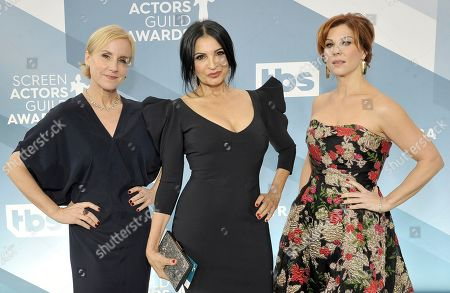 Welker White, Kathrine Narducci, Stephanie Kurtzuba. Welker White, from left, Kathrine Narducci and Stephanie Kurtzuba arrive at the 26th annual Screen Actors Guild Awards at the Shrine Auditorium & Expo Hall, in Los Angeles