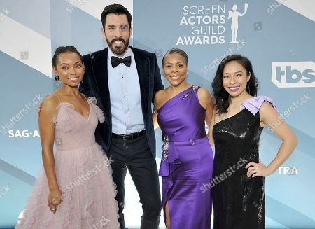 Logan Browning, Drew Scott, Lynda Browning, Linda Phan. Logan Browning, from left, Drew Scott, Lynda Browning and Linda Phan arrive at the 26th annual Screen Actors Guild Awards at the Shrine Auditorium & Expo Hall, in Los Angeles
