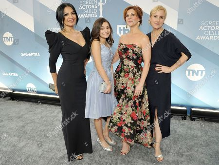 Kathrine Narducci, Lucy Gallina, Stephanie Kurtzuba, Welker White. Kathrine Narducci, from left, Lucy Gallina, Stephanie Kurtzuba, and Welker White arrive at the 26th annual Screen Actors Guild Awards at the Shrine Auditorium & Expo Hall, in Los Angeles