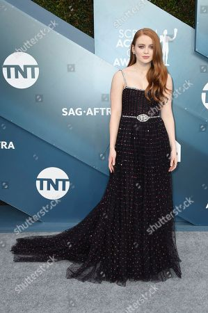 Sadie Sink arrives at the 26th annual Screen Actors Guild Awards at the Shrine Auditorium & Expo Hall, in Los Angeles