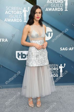 Nina Kiri arrives at the 26th annual Screen Actors Guild Awards at the Shrine Auditorium & Expo Hall, in Los Angeles