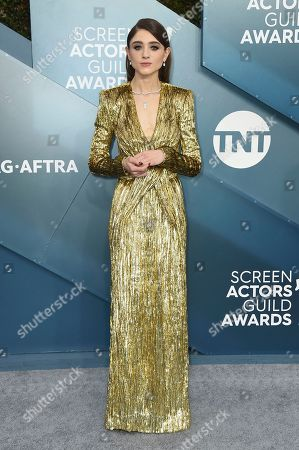 Natalia Dyer arrives at the 26th annual Screen Actors Guild Awards at the Shrine Auditorium & Expo Hall, in Los Angeles