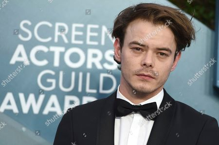 Charlie Heaton arrives at the 26th annual Screen Actors Guild Awards at the Shrine Auditorium & Expo Hall, in Los Angeles