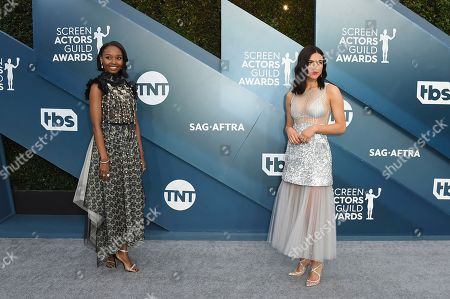 Nina Kiri, Ashleigh LaThrop. Ashleigh LaThrop, left, and Nina Kiri arrive at the 26th annual Screen Actors Guild Awards at the Shrine Auditorium & Expo Hall, in Los Angeles