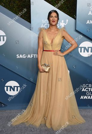 D'Arcy Carden arrives at the 26th annual Screen Actors Guild Awards at the Shrine Auditorium & Expo Hall, in Los Angeles