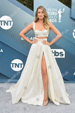 Renee Bargh arrives at the 26th annual Screen Actors Guild Awards at the Shrine Auditorium & Expo Hall, in Los Angeles