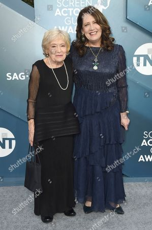 Stock Photo of Dolores Dean, Ann Dowd. Dolores Dean, left, and Ann Dowd arrive at the 26th annual Screen Actors Guild Awards at the Shrine Auditorium & Expo Hall, in Los Angeles