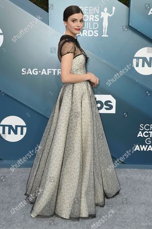 Francesca Reale arrives at the 26th annual Screen Actors Guild Awards at the Shrine Auditorium & Expo Hall, in Los Angeles