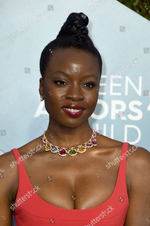 Danai Gurira arrives at the 26th annual Screen Actors Guild Awards at the Shrine Auditorium & Expo Hall, in Los Angeles