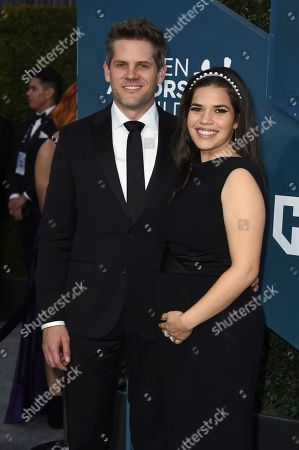 Ryan Piers Williams, America Ferrera. Ryan Piers Williams, left, and America Ferrera arrives at the 26th annual Screen Actors Guild Awards at the Shrine Auditorium & Expo Hall, in Los Angeles