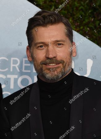 Nikolaj Coster-Waldau arrives at the 26th annual Screen Actors Guild Awards at the Shrine Auditorium & Expo Hall, in Los Angeles