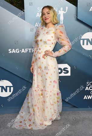 Stock Photo of Sarah Goldberg arrives at the 26th annual Screen Actors Guild Awards at the Shrine Auditorium & Expo Hall, in Los Angeles