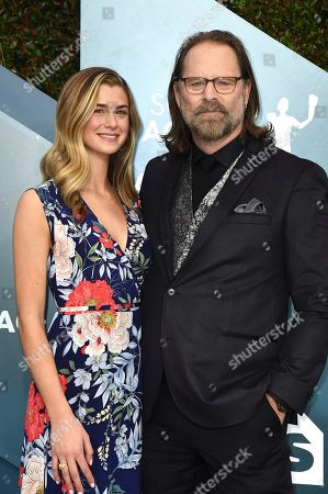 Stock Image of Eloise DiMase-Nordling, Jeffrey Nordling. Eloise DiMase-Nordling, left and Jeffrey Nordling arrive at the 26th annual Screen Actors Guild Awards at the Shrine Auditorium & Expo Hall, in Los Angeles