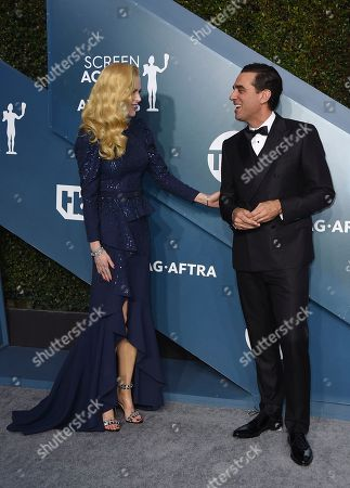 Nicole Kidman, Bobby Cannavale. Nicole Kidman, left, and Bobby Cannavale arrive at the 26th annual Screen Actors Guild Awards at the Shrine Auditorium & Expo Hall, in Los Angeles