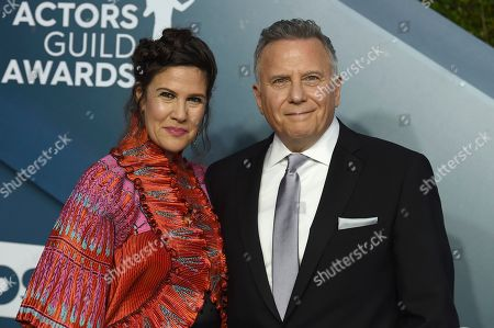 Paul Reiser, Paula Ravets. Paul Reiser, right, and Paula Ravets arrive at the 26th annual Screen Actors Guild Awards at the Shrine Auditorium & Expo Hall, in Los Angeles