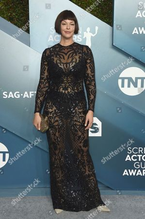 Pollyanna McIntosh arrives at the 26th annual Screen Actors Guild Awards at the Shrine Auditorium & Expo Hall, in Los Angeles