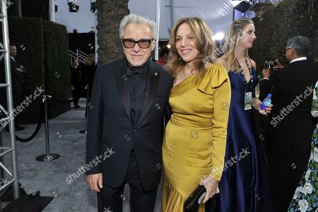 Harvey Keitel, Daphna Kastner. Harvey Keitel, left, and Daphna Kastner arrive at the 26th annual Screen Actors Guild Awards at the Shrine Auditorium & Expo Hall, in Los Angeles