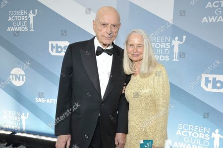 Alan Arkin, Suzanne Newlander Arkin arrive at the 26th annual Screen Actors Guild Awards at the Shrine Auditorium & Expo Hall, in Los Angeles